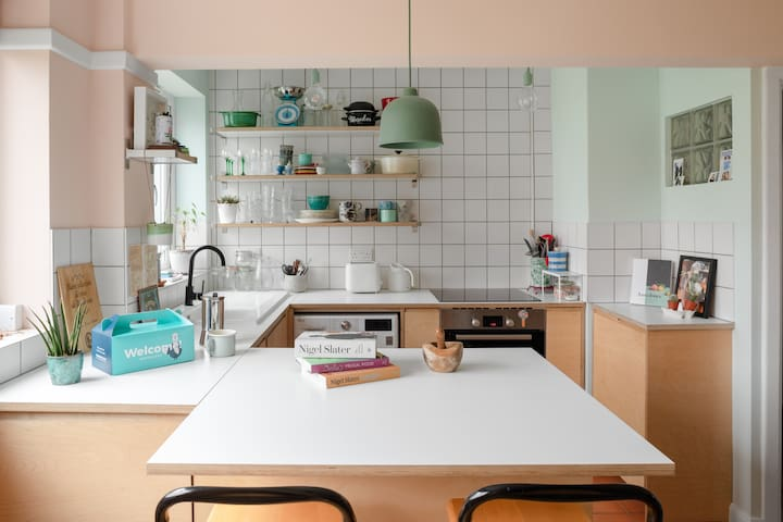 Enjoy the use of a fully-equipped kitchen