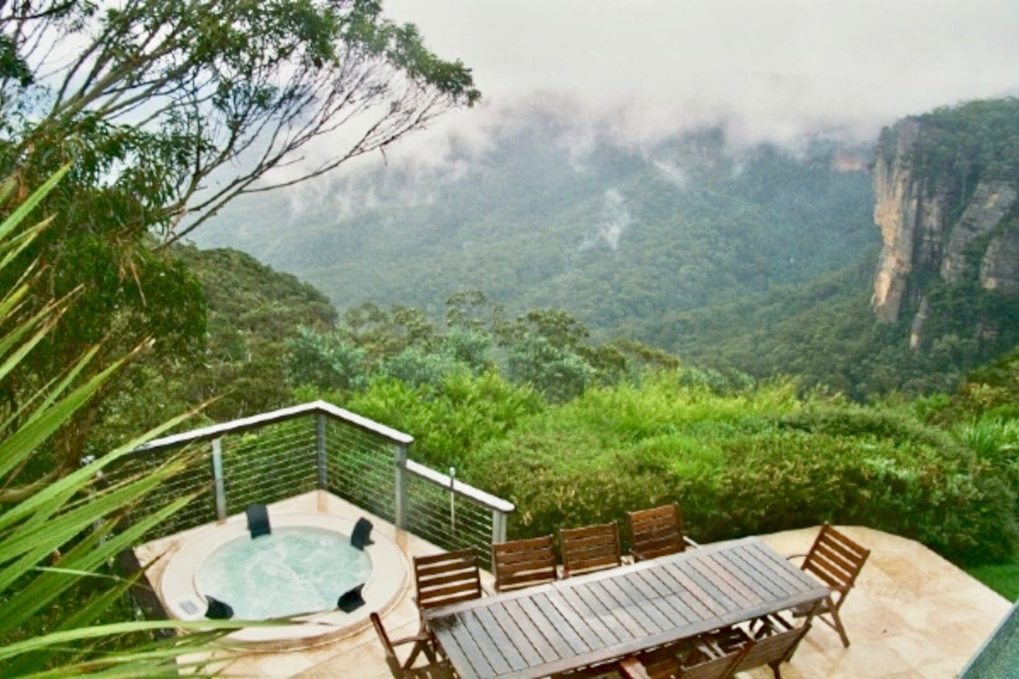 Mystical mountain views from the jacuzzi