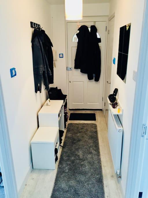 Hallway - plenty of storage