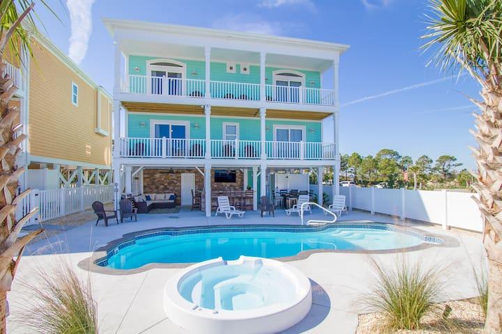 New-Build Beach Home w/ Pool, Elevator & Spa!