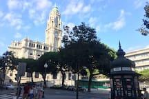 City Hall and Aliados main square