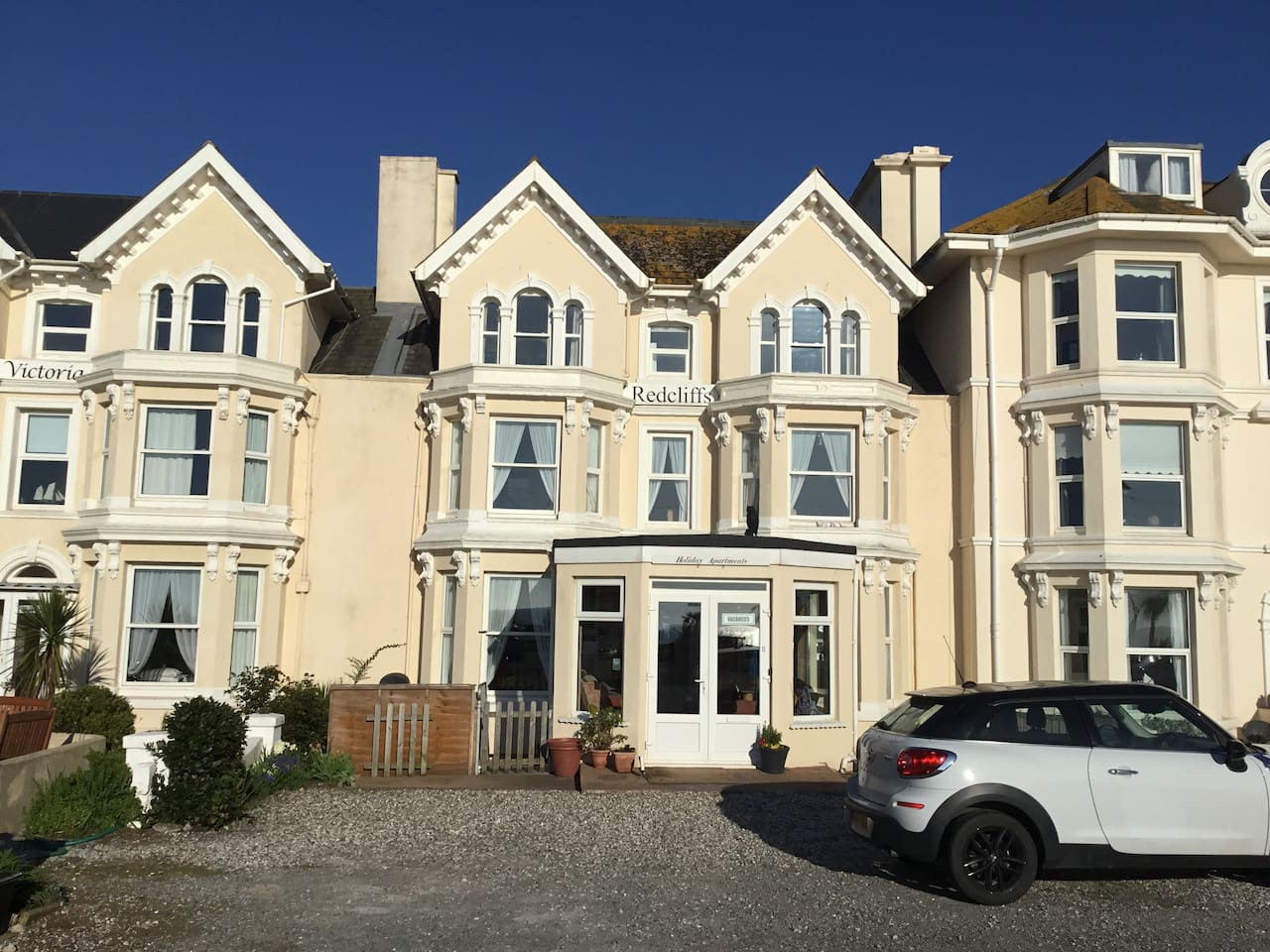 Redcliffs is a beautiful Victorian building situated right on the seafront