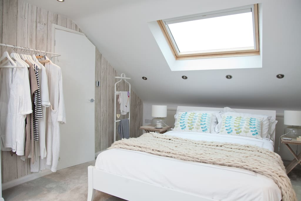 White scandi style room with only your own belongings in it!
