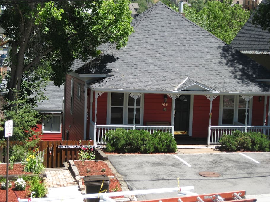 Front of Red House with off street parking