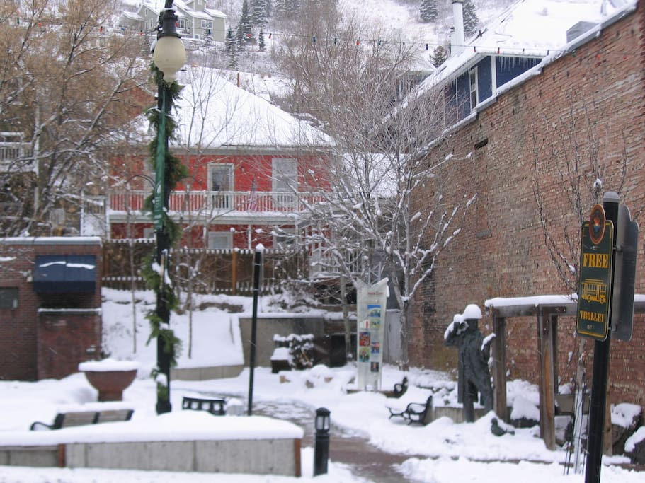Back of house taken from Main Streets Miners Plaza Park