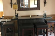 Bar/dining table (not stocked).