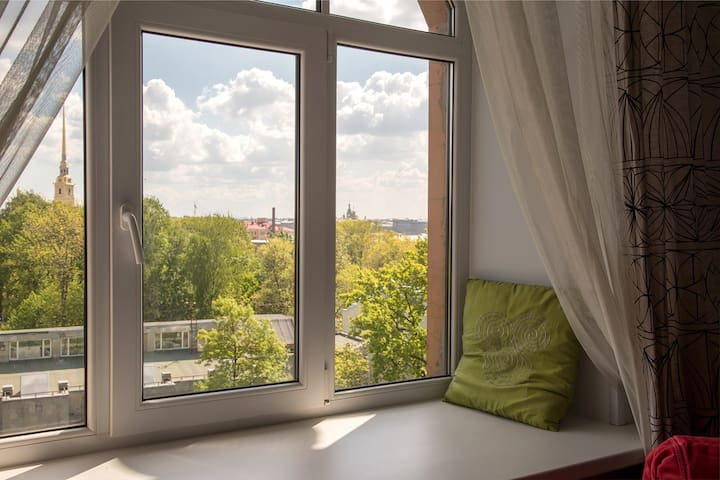apartment with a unique view