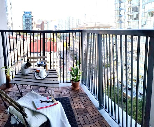 Enjoy the beautiful view or a nice cup of coffee from our balcony