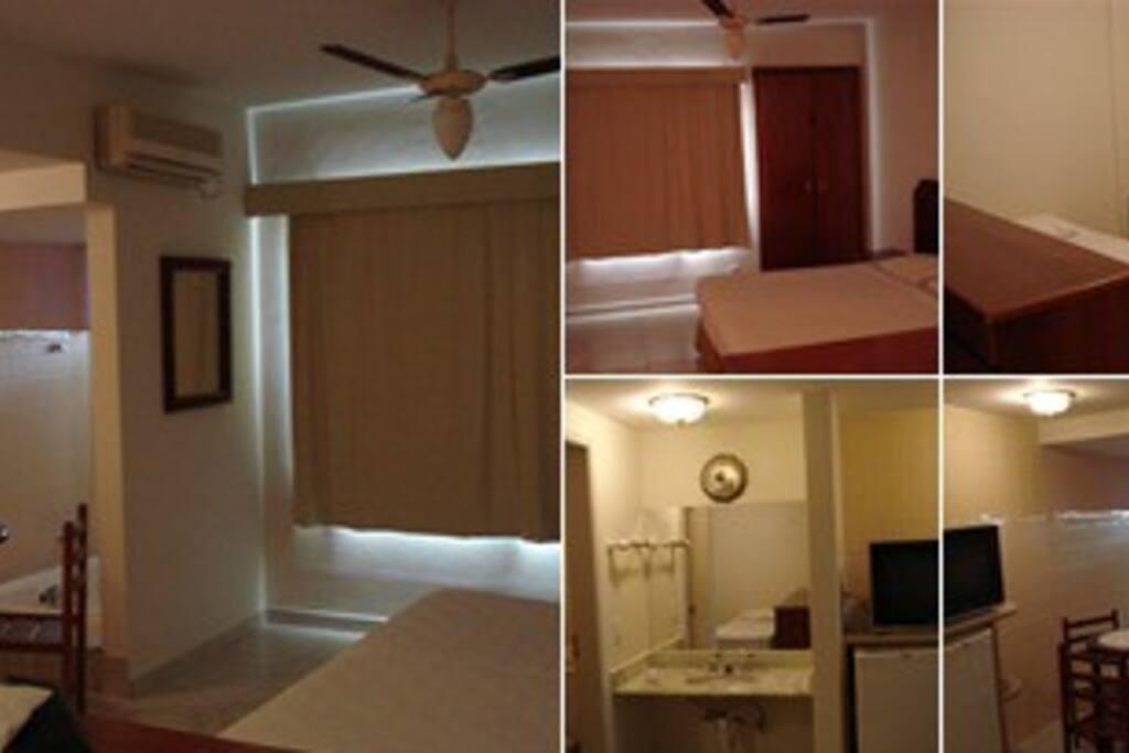 exemplo de suite do Bluepoint Hotel Hot Springs
