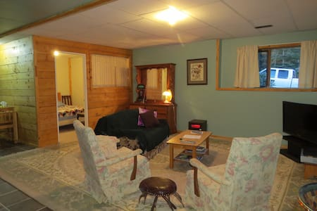 bright cozy basement suite log home - 150 Mile House