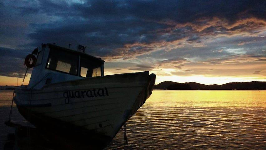 Nascer do sol na praia da Jabaquara