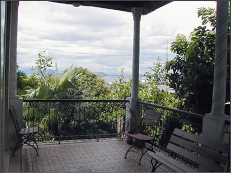 Essa é a vista da varanda