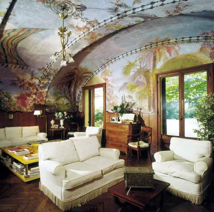 Frescoed ballroom