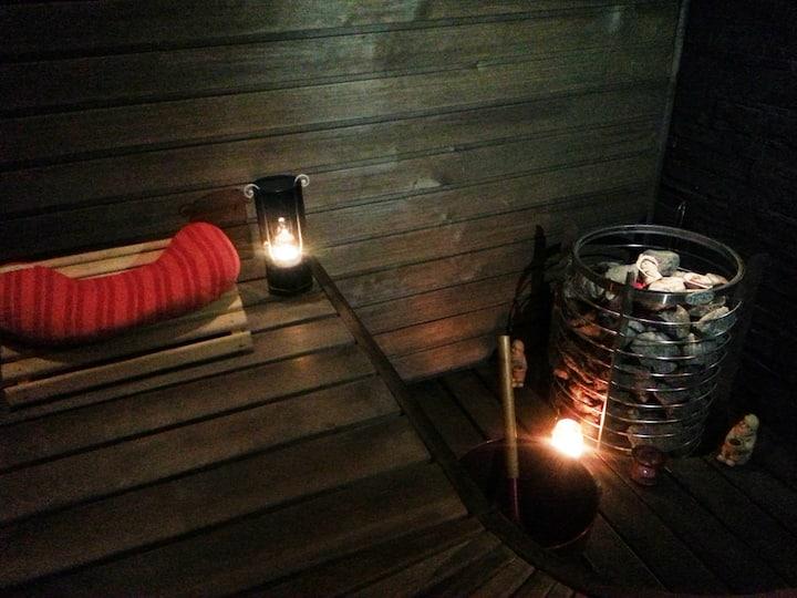Cozy apt. with sauna near the lake