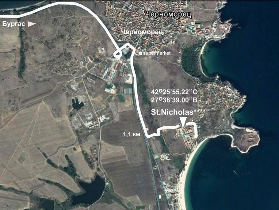 маршрут проезда от Бургас