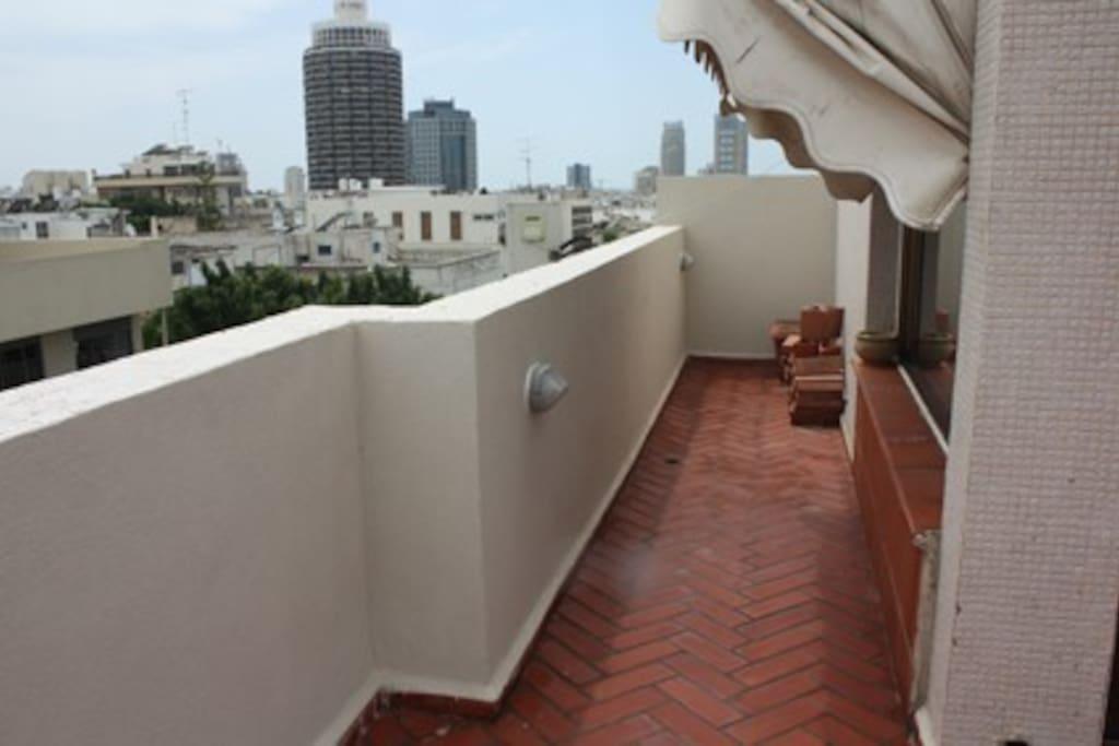 Rooftop veranda, facing South West