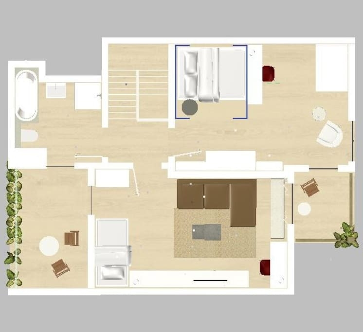 Grundriss des Apartments im 1.OG / Floor plan of the apartment first floor
