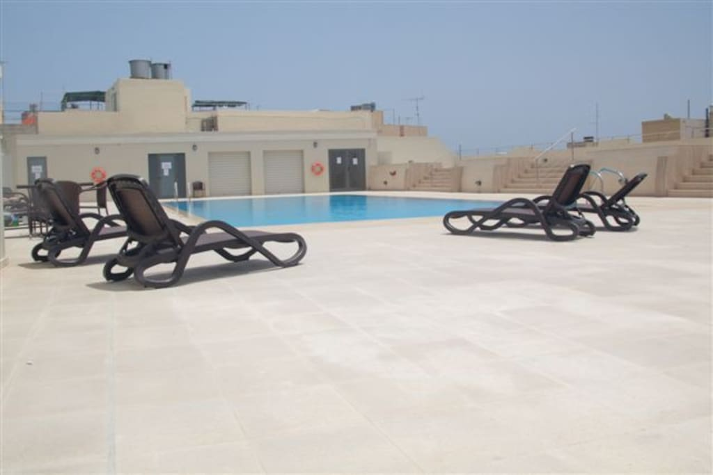 Pool decking area
