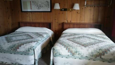 Fully Furnished Kitchenette with 2 Queen Beds