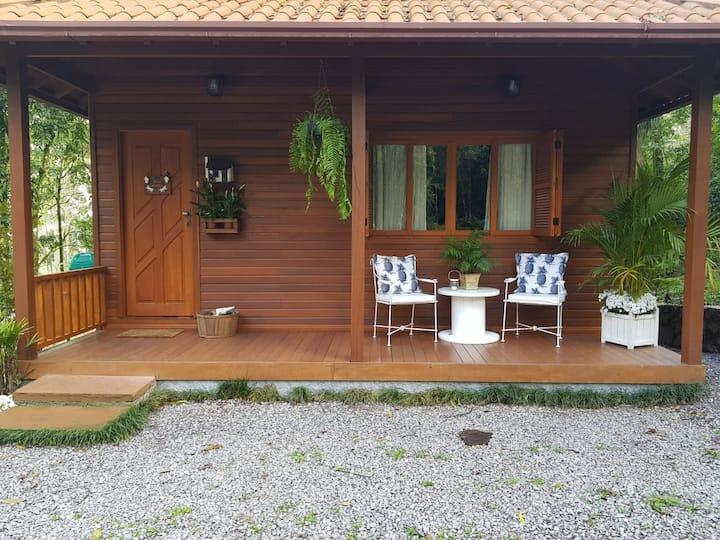 Cabana em Nova Petrópolis meio a natureza