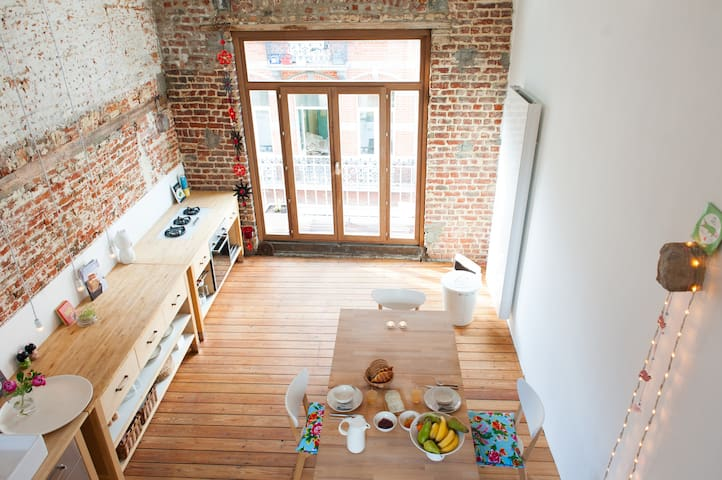 Our Kitchen that we share (2nd floor) offers you coziness and peace to prepare yourself or your family a nice meal (breakfast not included)