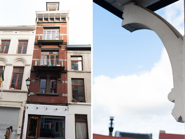 You can enjoy the sun on the Kitchen's balcony (2nd floor)