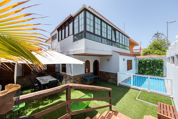 Great house private pool S.Agustín-Canariasgetaway