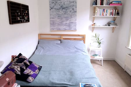 Bright double bed in Shoreditch