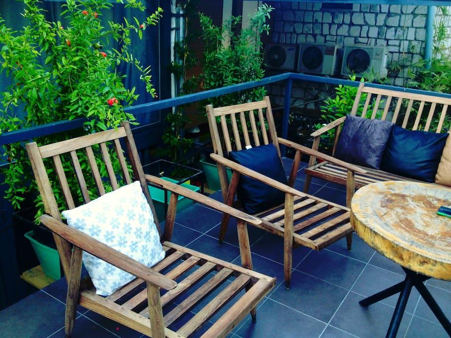Relaxing terrace on 2nd floor