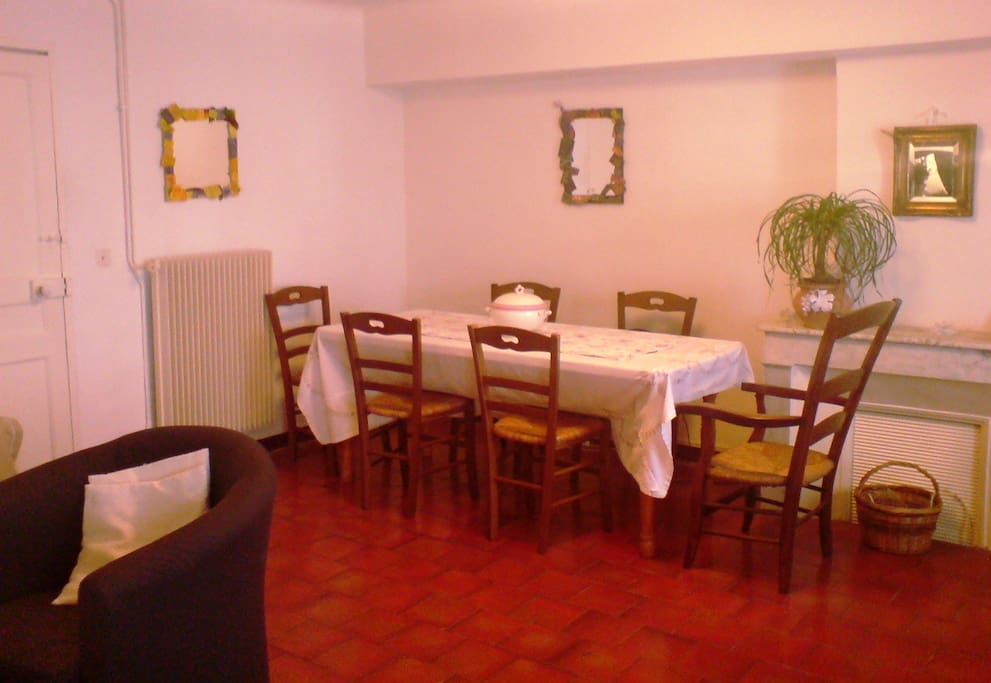 Convivial dining area
