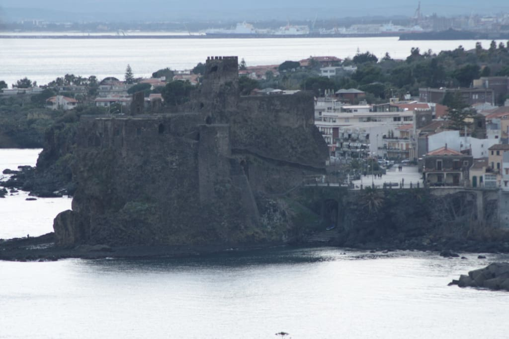 Norman Castle of Acicastello (view from the flat)