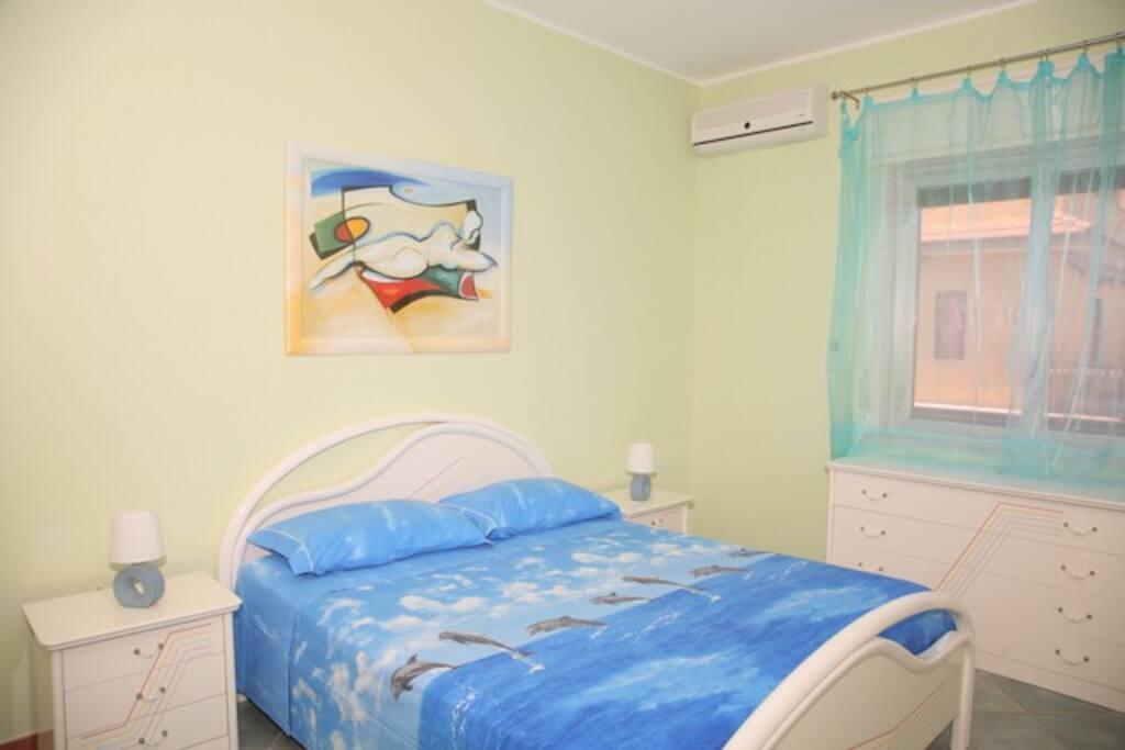 camera da letto n°1 con letto matrimoniale e letto a castello x tot.4 letti