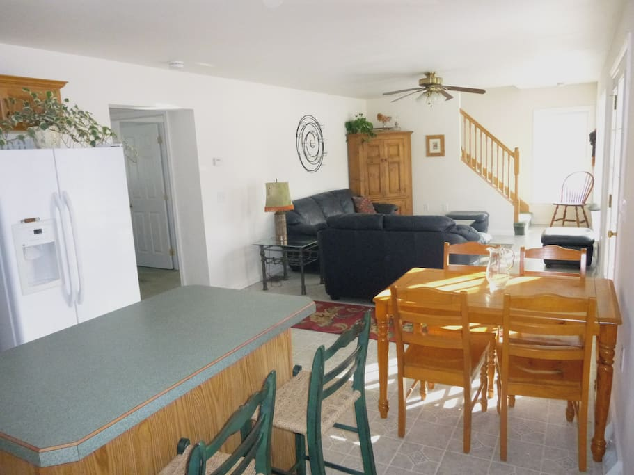 main living area (stairs lead to owner's storage attic)