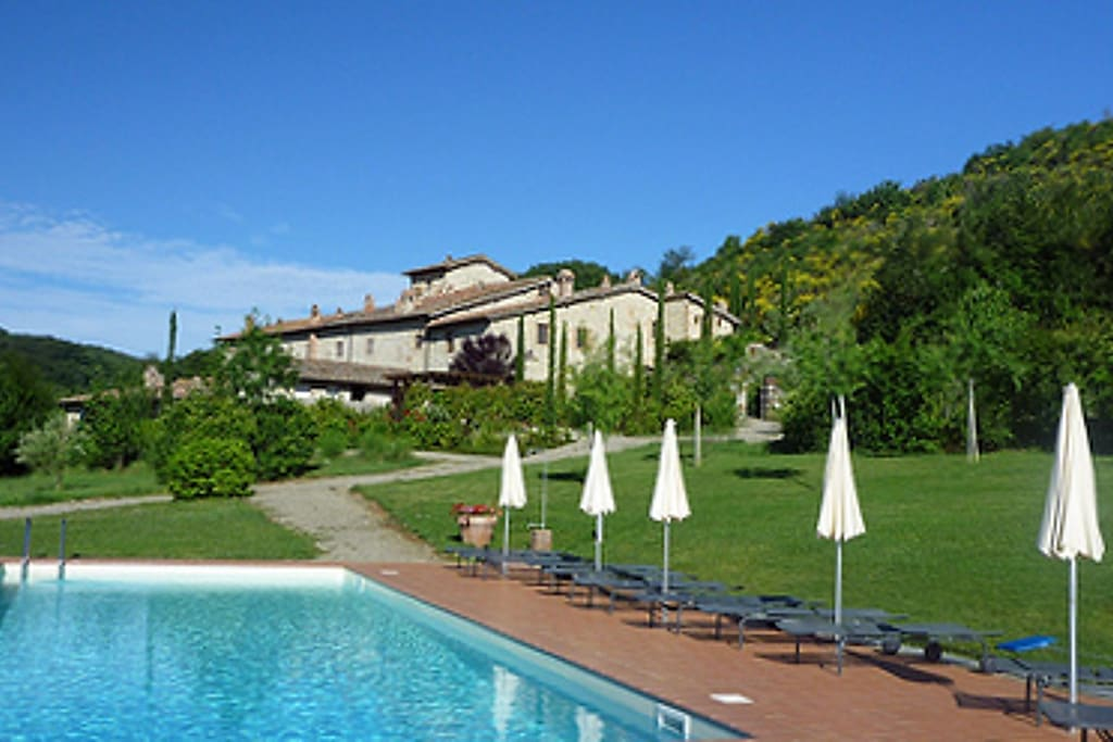 View of the villa from the pool.