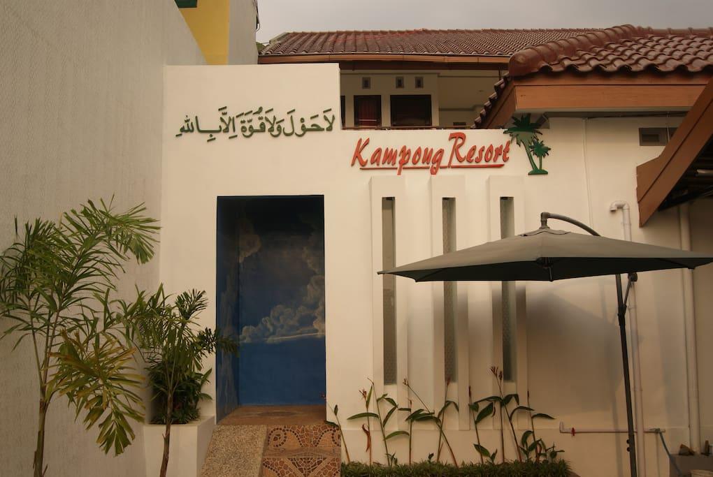 Entrance of  Kampong Resort