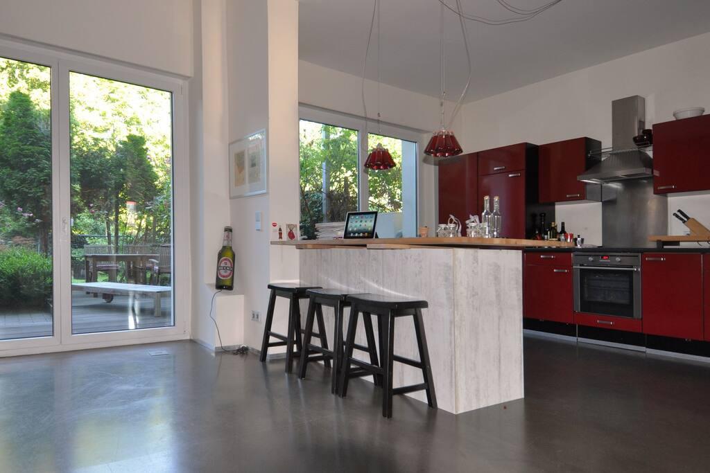 Küche, Essplatz, Veranda