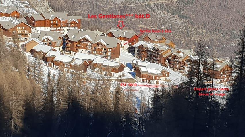 """Un spacieux T4 pour un départ """"skis aux pieds""""."""