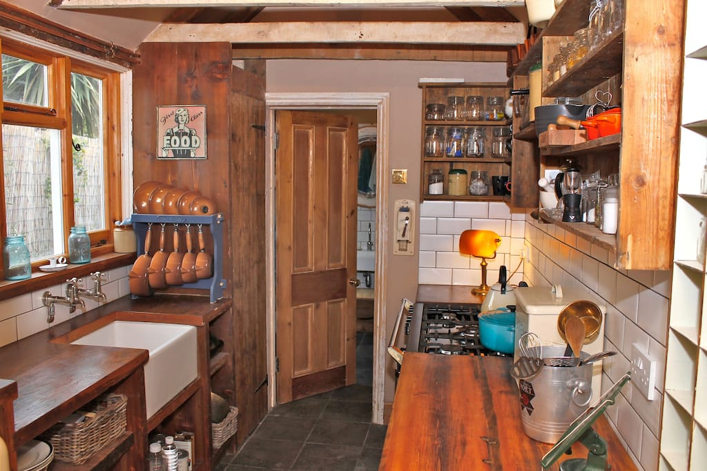 The kitchen, in The Cook's Cottage, has everything a cook needs and much more.