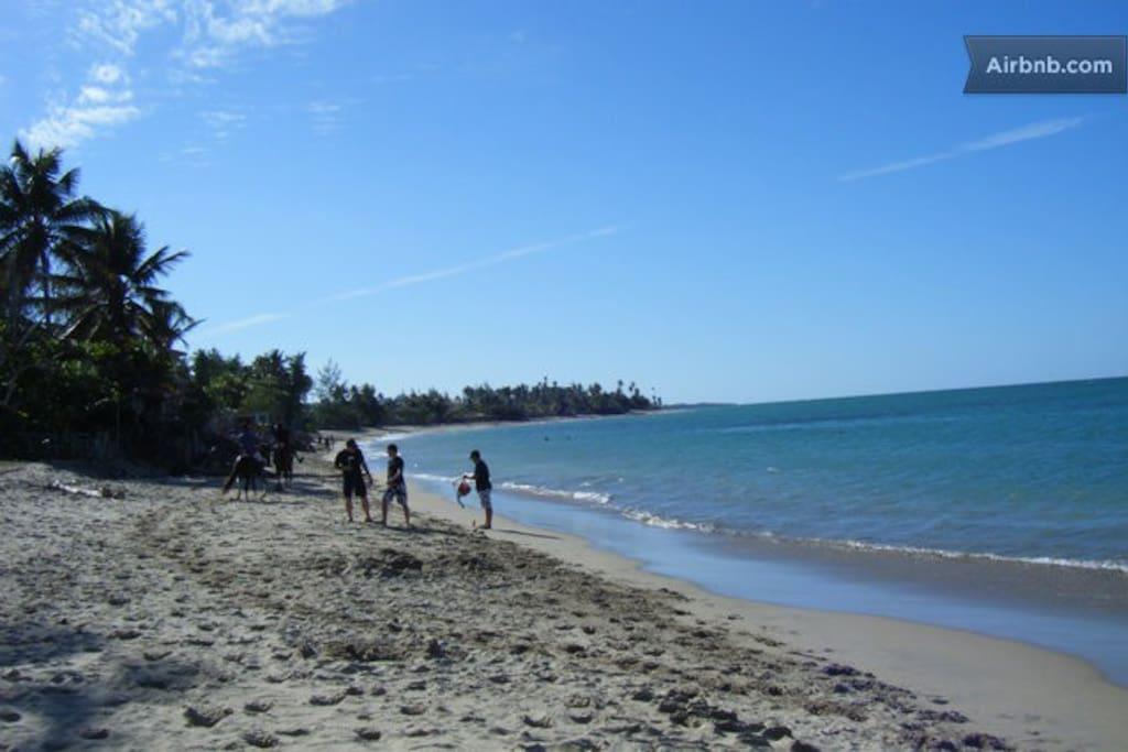 The beach is only a 5 minute walk from your condo!