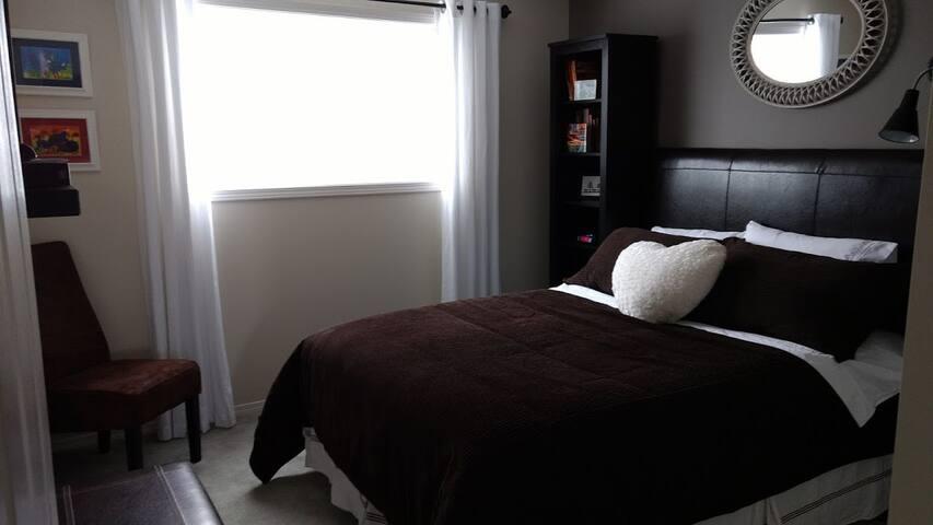 Private bath. Spacious safe home. Bright room.
