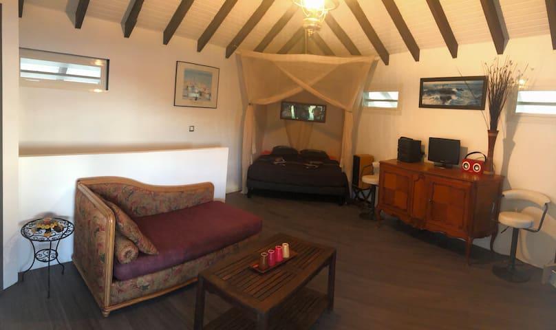 Salon avec lit 160x200