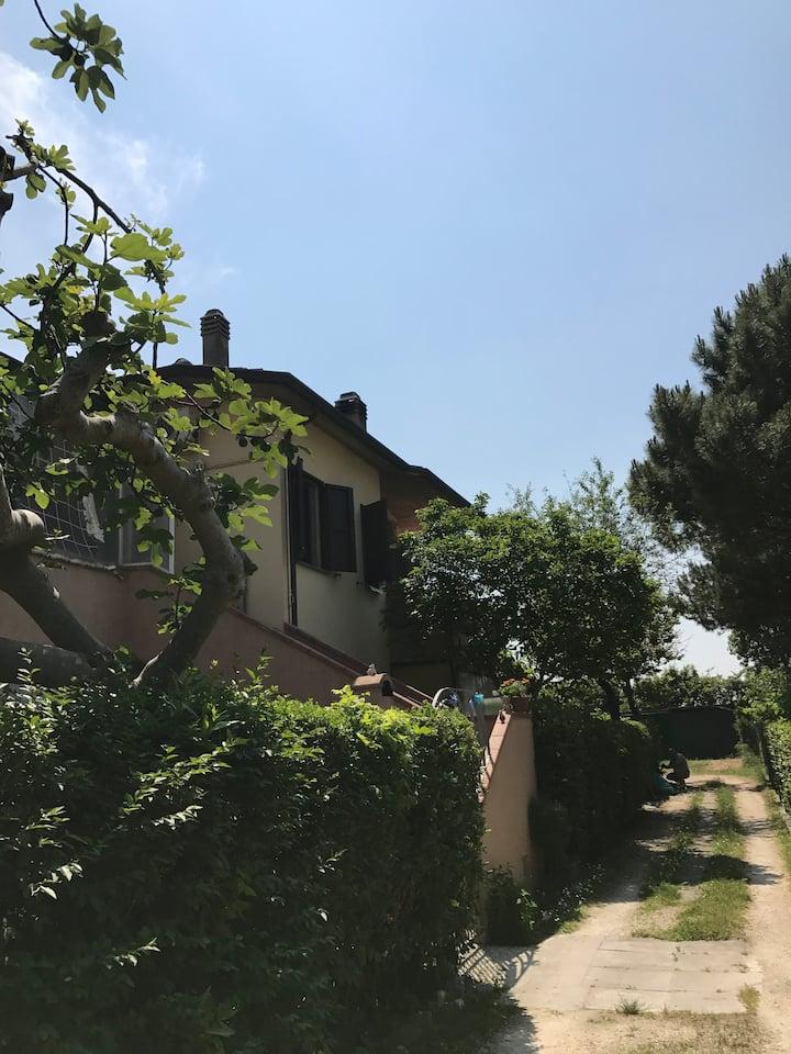 Villetta indipendente con clima e riscaldamento
