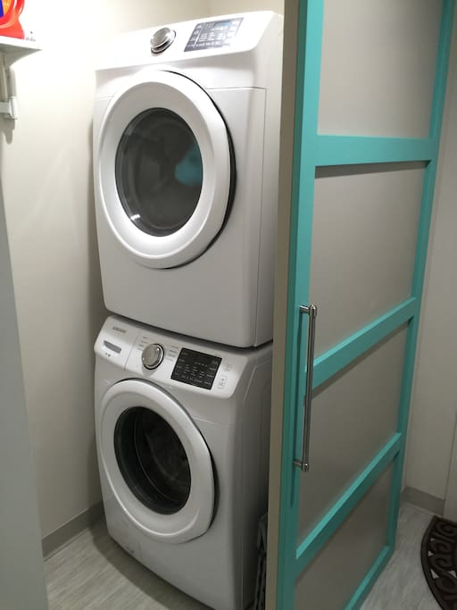 Shared Laundry- washer, dryer, iron and ironing board