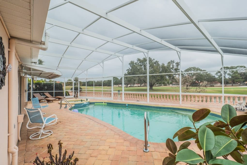 Pool Deck/Screened Patio Back View