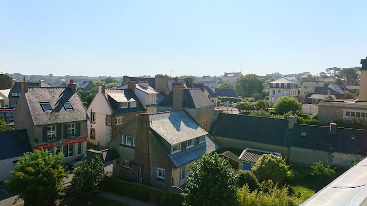 Apartment with one bedroom in Trébeurden, with wonderful city view and WiFi - 1 km from the beach
