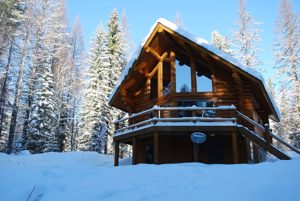 Cabin in the Winter - Front View