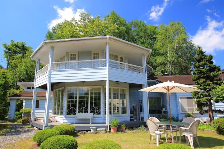 忍野村、富士山の眺めのいい家