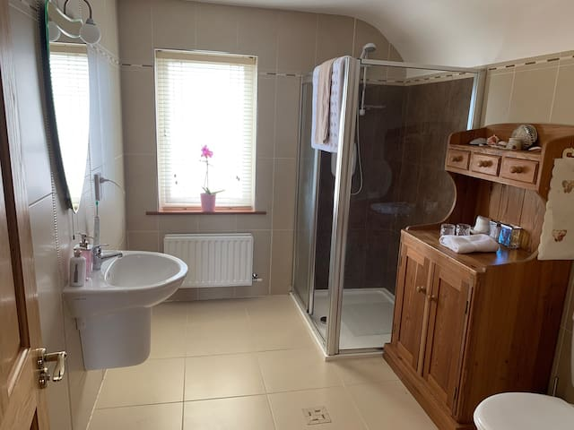 First floor- Spacious shower room.