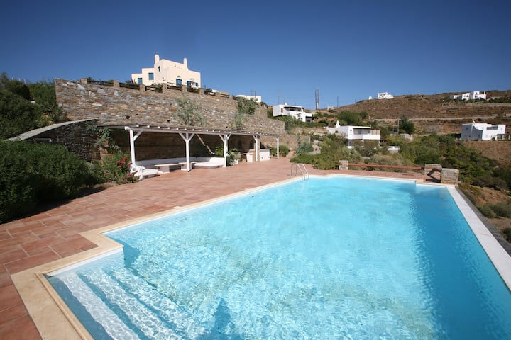 Villa Maria-Nefeli with private beach and pool