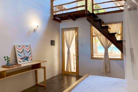 Beachfront Loft Cottage with Skylight1
